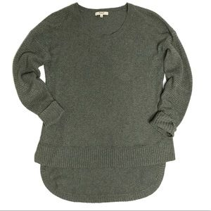 Madewell Chronicle Textured Sweater in Sage Green
